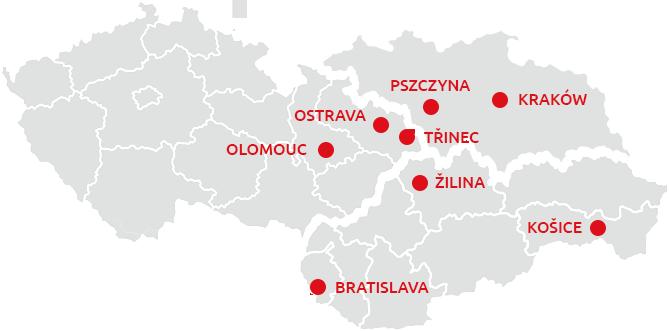 Mapa působení Romanko.sk